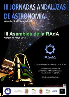 III JORNADAS ANDALUZAS DE ASTRONOMÍA EN GÉRGAL