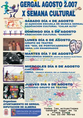 Semana Cultural previa a la Feria de Gérgal