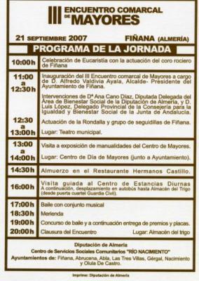 """III ENCUENTRO COMARCAL DE MAYORES """"RÍO NACIMIENTO"""""""