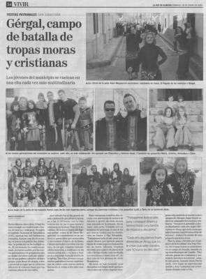 """Las Fiestas de Moros y Cristianos de Gérgal en """"La Voz de Almería"""""""